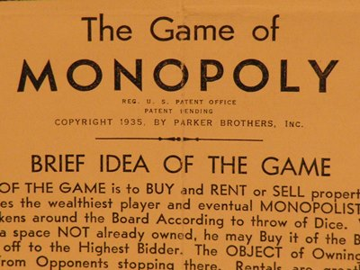 1935 Maroon Fine Edition Monopoly Game Instructions